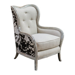Uttermost - Wood And Linen Chalina Velvet Chair - Wood And Linen Chalina Velvet Chair