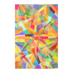 "Kess InHouse - Danny Ivan ""Star"" Geometric Multicolor Metal Luxe Panel (16"" x 20"") - Our luxe KESS InHouse art panels are the perfect addition to your super fab living room, dining room, bedroom or bathroom. Heck, we have customers that have them in their sunrooms. These items are the art equivalent to flat screens. They offer a bright splash of color in a sleek and elegant way. They are available in square and rectangle sizes. Comes with a shadow mount for an even sleeker finish. By infusing the dyes of the artwork directly onto specially coated metal panels, the artwork is extremely durable and will showcase the exceptional detail. Use them together to make large art installations or showcase them individually. Our KESS InHouse Art Panels will jump off your walls. We can't wait to see what our interior design savvy clients will come up with next."