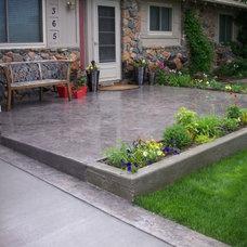Traditional Patio by Bloom Concrete & Landscape