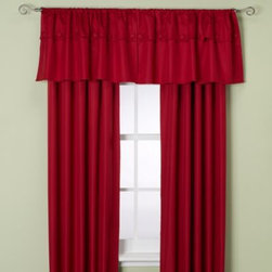 Supreme Blackout - Orlando Kid Window Curtain Panel in Chili - These beautiful rod pocket window curtain panels are both decorative and quite useful as they are insulated with a durable thermal foam backing that provides energy-saving insulation, room-darkening qualities and noise-reduction.