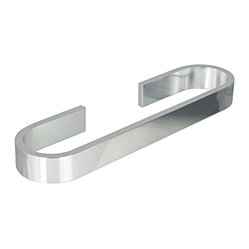 Materia Towel Bar in Shiny Aluminium 17.7""