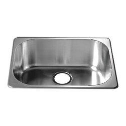 Dawn - Dawn 3233 22 inch Single Bowl Topmount 20 Gauge Stainless Steel Kitchen Sink - 304 Stainless Steel, 18/10 Chrome-Nickel
