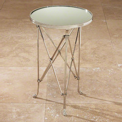 Global Views Directoire Table Nickel & Mirror