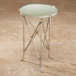 Global Views Directoire Table Nickel & Mirror - Directoire Table-Nickel & Mirror
