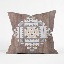 Southwest Stamp Throw Pillow Cover - Throw down a distinct, crafty pattern in the midst of a rustic room to lend some creative flair to your space. This custom throw pillow features a double-sided print, and includes a concealed zipper for easy care.