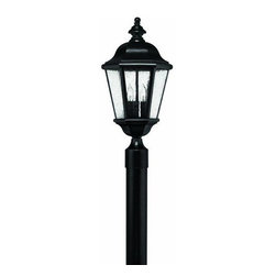 Hinkley - Hinkley Edgewater 3-Light Black Post Light - 1671BK - This 3-Light Post Light is part of the Edgewater Collection and has a Black Finish. It is Outdoor Capable.
