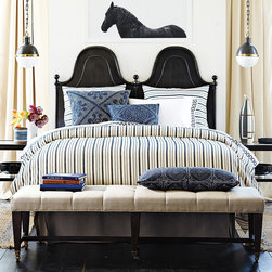 Metallic Stripe Duvet Cover - These bed linens are timelessly classic.