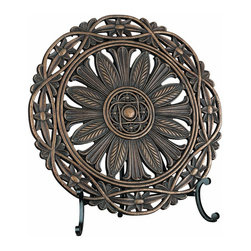 Lite Source - Lite Source Sebastian Traditional Charger X-09014C - From the Sebastian Collection, this Lite Source charger is an excellent decorative addition to any space, whether a formal dining table or a comfortable family room bookshelf. This traditional charger features botanical detailing, interwoven trim and a beautiful Dark Bronze finish to pull it all together.