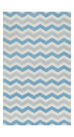"Loloi Rugs - Loloi Rugs Zoey Collection - Blue, 3'-0"" x 5'-0"" - Zoey is a delightful collection of lighthearted, cheerful patterns in pinks, blues and greens that are perfect for young kids or the young at heart. Power loomed in China of super soft polyester microfiber, Zoey rugs are durable, yet soft enough for infants and toddlers to cozy up to.�"