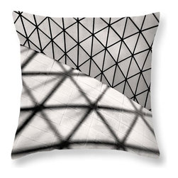 Great Court Abstract Throw Pillow - © Rona Black. http://www.ronablack.com.