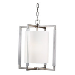 Feiss - Feiss F2928/2BS Fording 2 Light Brushed Steel Chandelier - Finish: Brushed Steel