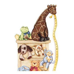 York Wallcoverings - Stuffed Animals Large Prepasted Wall Art Growth Chart - FEATURES: