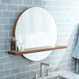 """Native Trails - Renewal Solace Lavatory Mirror Shelf - With its subtle use of bamboo, Solace projects a quiet strength and creates a sense of continuity- particularly when paired with Native Trails Renewal Series vanities. Solace is also perfectly at home as the focal point in any contemporary room design. Features: -Mirror shelf. -Renewal collection. -Handcrafted solid bamboo construction. -Low VOC finish. -Built in french cleat. -FSC certified wood. -Manufacturer provides limited lifetime warranty. Specifications: -Overall dimensions: 1.5"""" H x 6.5"""" W x 25"""" D. -Outside dimensions: 34"""" x 6.5""""."""