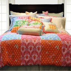 None - Clarrisa Twin-size Duvet 2-piece Cover Set - Add a fun touch to any bedroom decor with this Clarrisa duvet cover set. This bedding ensemble showcases a brightly colored patchwork print.