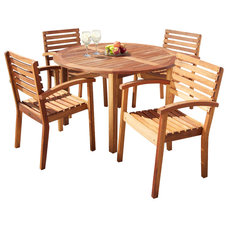 Contemporary Outdoor Dining Tables by Great Deal Furniture