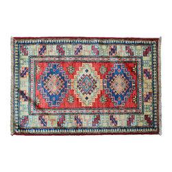 1800GetARug - Hand Knotted Rug Oriental Rug Tribal Sunset Red Fine Kazak Sh11236 - About Tribal & Geometric