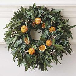 Viva Terra - Orange Eucalyptus Wreath - Spiral eucalyptus serves as the fragrant