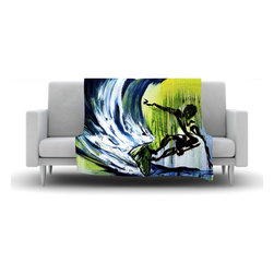 "Kess InHouse - Josh Serafin ""Greenroom"" Green Blue Fleece Blanket (80"" x 60"") - Now you can be warm AND cool, which isn't possible with a snuggie. This completely custom and one-of-a-kind Kess InHouse Fleece Throw Blanket is the perfect accent to your couch! This fleece will add so much flare draped on your sofa or draped on you. Also this fleece actually loves being washed, as it's machine washable with no image fading."