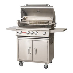 "Bull - Angus Cart w/lights LP - The Angus cart is a 30"" 4-Burner Stainless Steel Barbecue Grill with an Infrared Back Burner."