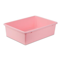 Large Plastic Bin, Lt Pink - Honey-Can-Do PRT-SRT1603-LgLtPnk Large Light Pink Plastic Sorter Bin, Pink