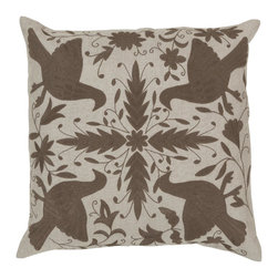 """Surya - Surya 18 x 18 Decorative Pillow, Oatmeal and Brindle (LD022-1818P) - Surya LD022-1818P 18"""" x 18"""" Decorative Pillow, Oatmeal and Brindle"""