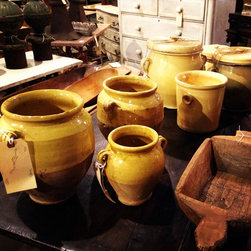 Back Row Antiques Photos - Beautiful antique French pottery in all shapes and sizes!