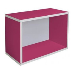 Way Basics - Eco Friendly Rectangular Cube in Pink - Completely recyclable. Lightweight to easily Easy to move from room to room and sturdy. Formaldehyde free and VOC free so it's safe for family and environment. Super strong 3M heavy duty adhesive bonds the boards together. Warranty: One year. Sustainably made from zBoard - recycled paper. Inside: 21.3 in. W x 11.2 in. D x 13.9 in. H. Outside: 22.8 in. W x 11.3 in. D x 15.5 in. H (6 lbs.)Enjoy the world's easiest tool-free assembly storage furniture. Modern bookcase for children and adults. This girls or boys bookshelf is a wonderful green companion to any organic home. Store toys, crafts, books and more. Ample enough to store your largest, glossiest coffee table books. To assemble zBoard storage products, simply peel, stick, done! Tool-free and hardware free.