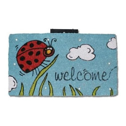 """CocoMatsNMore - CocoMatsNMore Magic L.E.D Doormat Little Ladybug - 18"""" X 30"""" - Eco-friendly Coco Mat are hand-woven and  made from 100% natural coir . These coco doormats are designed to last for a long time and are easy to maintain and clean by either shaking or hosing it down. Designed with fade-resistant dyes they are durable enough to withstand the harshness of weather and look good througout the year. Furthermore, they keep your house clean by doing a fabulous job of trapping the dirt, mud and debris right at the doorstep."""