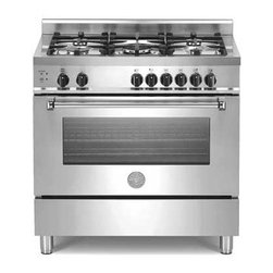 "Bertazzoni Master Series A365GGVXENG 36"" Pro-Style Gas Range, 5 Sealed Burners - Bertazzoni Master Series gas ranges bring a perfect blend of solid professional style and European precision engineering to your kitchen."