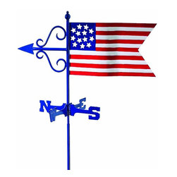 G.D. - Good Directions American Flag Garden Weather Vane w/Roof Mount - Our maintenance-free Garden Weathervanes combine classic design with high-quality craftsmanship.