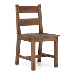 Distressed Wooden Chair - Some things are perfect just the way they are. Like this classic wood chair. Its clean simple lines connect other modern pieces to a bit of history.