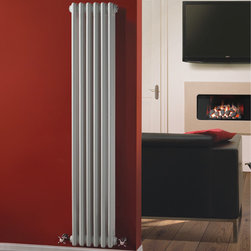 Hudson Reed - Traditional Vertical Radiator Cast Iron Style White 59 x 10.6 & Valves - This cast iron style radiator, with a high quality white powder coat finish (RAL 9016), has 6 vertical triple columns that give a outstanding heat output of 1,218 Watts (4,153 BTUs), ample to warm a room quickly and effectively. When combined with a set of modern valves, this up-to-date version of a classic radiator design is an ideal complement to contemporary settings, but also fits in well with traditional décor. This versatile radiator is compatible with all domestic central heating systems, will connect with your existing pipe work and is supplied complete with a wall mounting kit. For a truly authentic look, combine this traditional-style radiator with a Hudson Reed floor mounting kit (TRUSH017).  Traditional Column Radiator Cast Iron Style White 59 x 10.6 Details   Dimensions: (H x W x D) 59 (1500mm) x 10.6 (270mm) x 5 (125mm) Projection When Fitted: 5.1 (130mm) Output: 1,218 Watts (4,153 BTUs) Material: Steel Finish: White Powder Coat (RAL 9016) Columns: 6 x 3 Wall Mounting Brackets Included Please note: Angled Radiator Valves are required, please choose from options above.  5 Year Warranty on materials and finish Please Note: Our radiators are designed for forced circulation closed loop systems only. They are not compatible with open loop, gravity hot water or steam systems.
