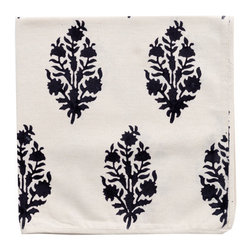 Keri Block-Print Napkins, Black, Set of 6 - Napkins also need to be changed every so often, whether it's out of necessity or just to update the look of your table setting. I love this block-print design from Madeline Weinrib.