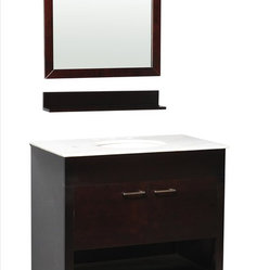 Belmont Decor - Belmont Decor Huntington Single Vanity - With an adventurous spirit that puts form and function foremost, the Huntington single sink bathroom vanity combines classic and modern styles to create a timeless masterpiece. The counter top is made from high quality heat and scratch resistant . This vanity will give you adequate storage space and is designed to complement any decor. A perfect decorative vanity for any bathroom style.