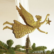 Gold Angel Tree Topper | Pottery Barn