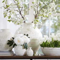 Langdon Vase - These white vases will come in handy for spring and summer blooms.