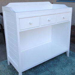 Baby Changing table makeover - After photo of Pottery Barn Ultimate changing table Makeover- strip, sand and re-paint