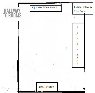 Layout for long narrow living room for Long narrow office layout