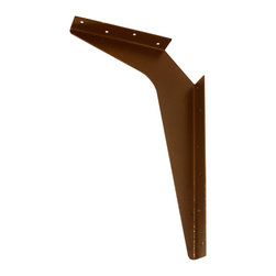 "CounterBalance - Workstation Bracket - Countertop Support Bracket -Import, Brown, 15x21 - The CounterBalance Workstation Bracket provides cost-efficient, secure installs to support stone and solid surface countertops on handicap accessible vanities, and other ""floating"" work surfaces. These products are available in many useful sizes and come in a variety of colors to match your surface. The Workstation Bracket is designed to attach to load-bearing studs. The Workstation Bracket can support an overhang extending 6"" beyond the length of the bracket as per industry standard recommendations."
