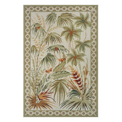 Momeni - Momeni Spencer Sp-10 Sage Area Rug - Exquisite designs draw you into the whimsical feel of the beautifully casual Momeni Spencer rug collection. Soft colors and floral designs set off traditional styling in these 100% wool rugs. This group by Momeni offers luxurious designs for any decor.