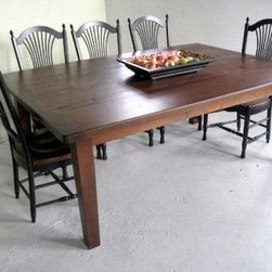 Extra Wide Oak Dining Table - Made by www.ecustomfinishes.com