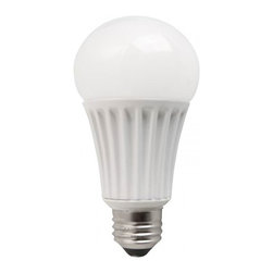 LED 13 Watt (75W Replacement) Dimmable A19 Bulb - LED 13 Watt (75W Replacement) Dimmable A19 Light Bulb, 2700K - 120 Volt Increase the efficiency in your home or business by replacing your 75 watt incandescent bulbs with these lower wattage 13 watt LEDs. Warm, inviting, and long lasting, these bulbs carry a 5 year warranty and are expected to last at least 25,000 hours. Buy in bulk and watch your electric bill drop. These are suitable for table lamps, general lighting, floor lamps, and ceiling lamps. These bulbs are ok to be used in an enclosed fixture. LED 13 Watt Dimmable A19 Light Bulb- Product Guide Model Number: LED13A21D27K Manufacturer: TCP Wattage: 13 Watt - Replaces up to 75 Watt Incandescent Equivalent. Voltage: 120 Volt Shape: A19 Base: Medium Screw (E26) Color Temperature: 2700K - Warm White Expected Life Hours: 25,000 and 5 Year MFG Warranty Lumens: 1100 Dimensions: 5.3 In. Length x 3.1 In. Width Energy Star Rated: In Testing Dimmable