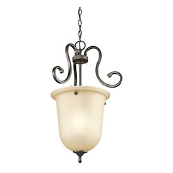 Kichler - Kichler 43180OZ Feville Single-Bulb Indoor Pendant with Urn-Style Glass Shade - Product Features: