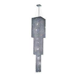 Elegant Lighting - Elegant Lighting 1299G84C-CL Moda 9-Light, Three-Tier Crystal Chandelier, Finish - Elegant Lighting 1299G84C-CL Moda 9-Light, Three-Tier Crystal Chandelier, Finished in Chrome with Clear CrystalsElegant Lighting 1299G84C-CL Features: