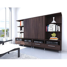 modern bookcases cabinets and computer armoires by Amazon