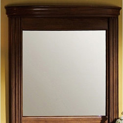"""Legion Furniture - 48"""" Vanity Mirror in Light Walnut - Features: -Vanity mirror. Specifications: -Manufacturer provides one year warranty on parts. -Overall dimensions : 33"""" H x 48"""" W x 5.5"""" D."""