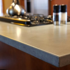 Contemporary Kitchen Countertops by Customcrete, Inc.