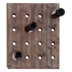 Benzara - Handmade Hangable Wine Rack with 16 Slots - Add a unique rack of wine to your Decor that fits perfectly with any style. A hangable wine rack, built with to hold 16 bottles of wine simultaneously in planks of solid wood. Perfect thing to hang in the kitchen or dining room. If wine is what you enjoy there is no reason not to keep a bottle nearby, just in case.