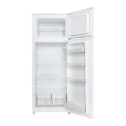 Danby - Danby 7.4 Cubic Foot White Two Door Apartment Size Refrigerator - FEATURES