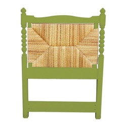 Trade Winds - New Trade Winds Twin Bed Green Painted - Product Details